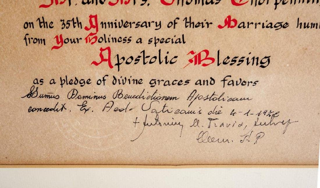 2 Apostlic Papal Blessings with Seals - 5