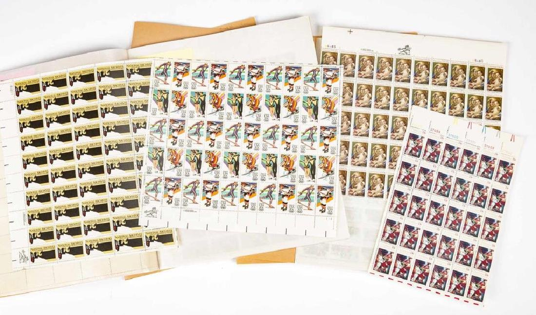 1980s Mint Postage Sheets