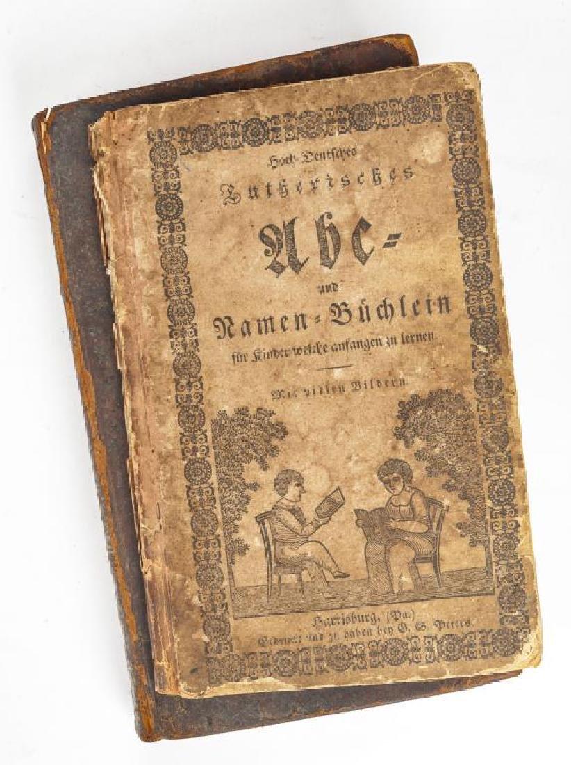 2 19th C. German Books Harrisburg Printings - 2