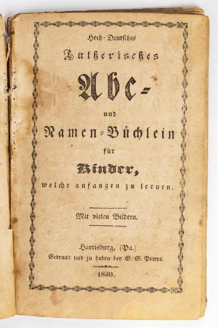 2 19th C. German Books Harrisburg Printings - 9