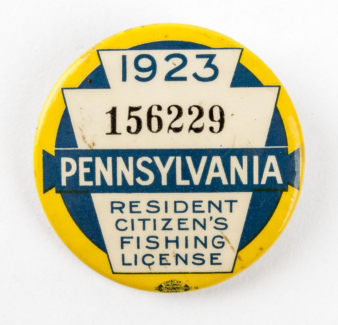 1923 Pennsylvania Fishing License