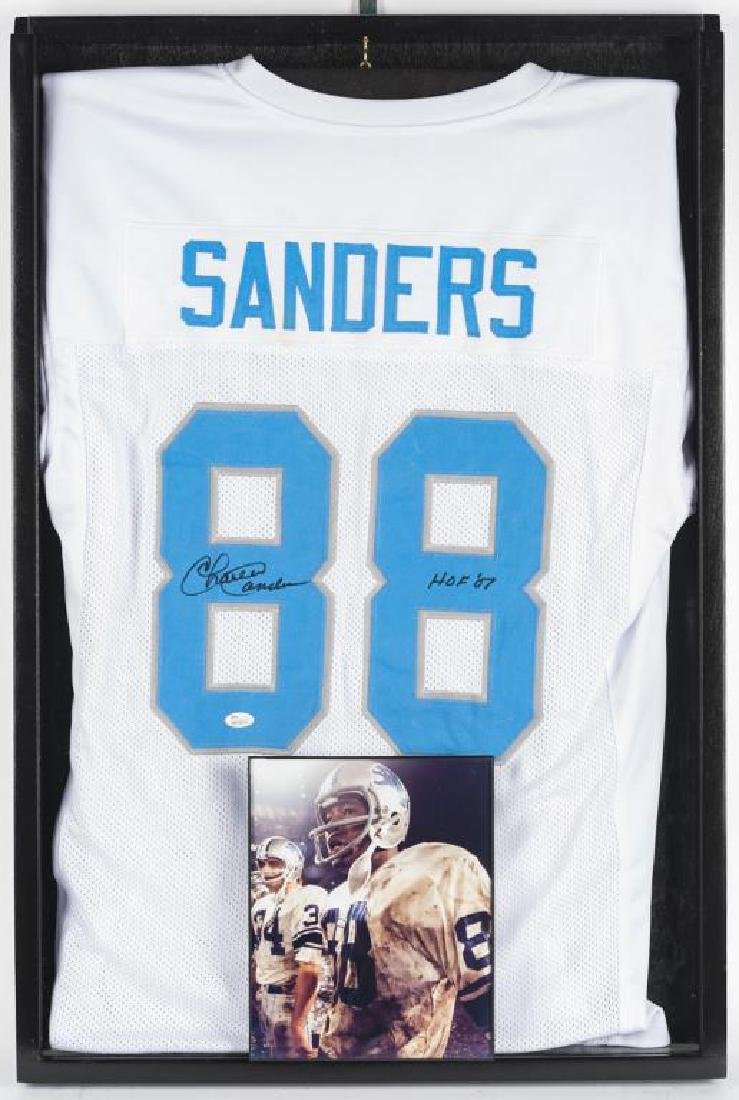 Autographed Charlie Sanders Football Jersey