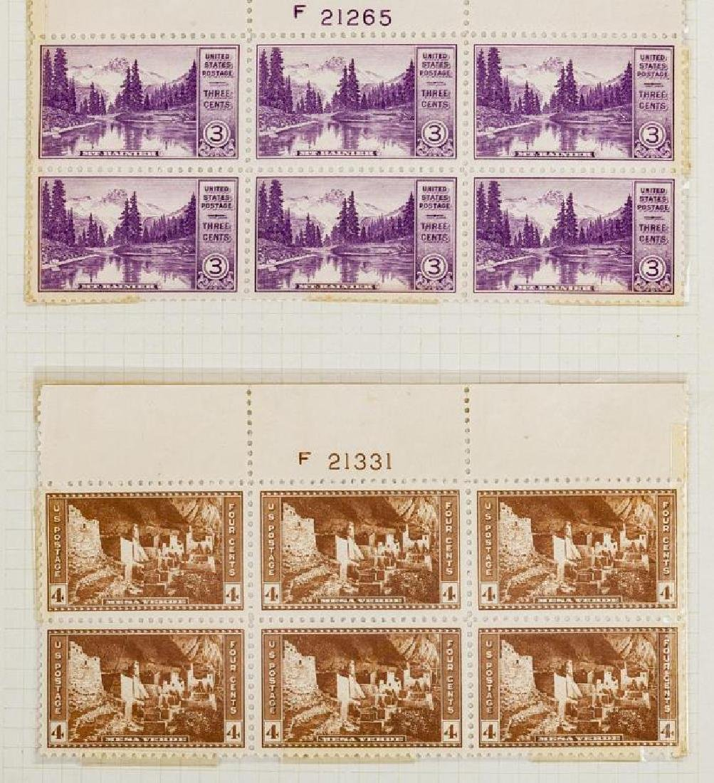 US Stamps Mint NH Plate Blocks - 3