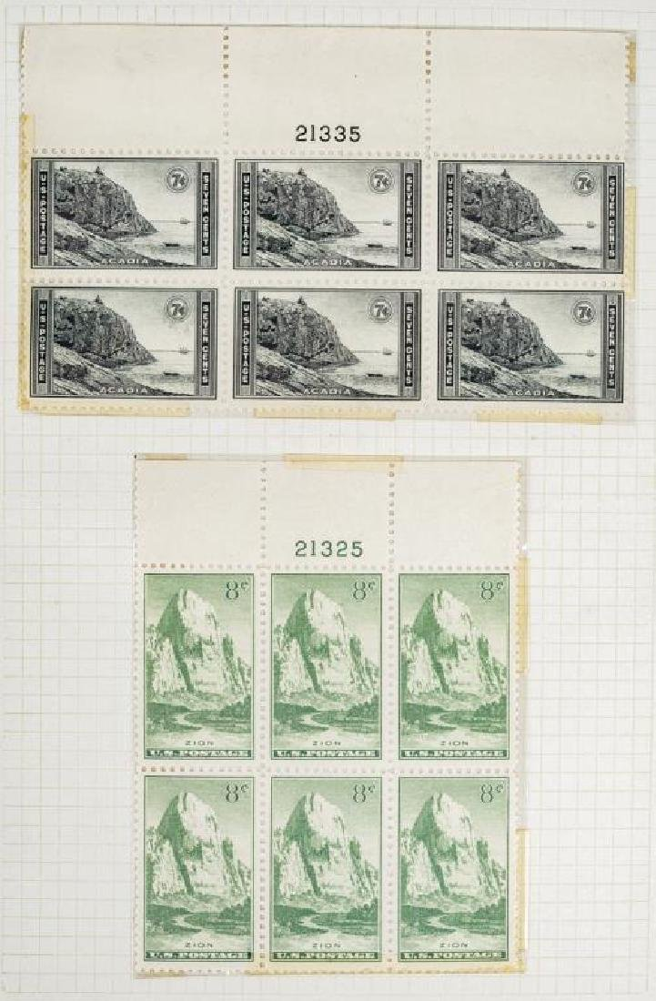 US Stamps Mint NH Plate Blocks - 4
