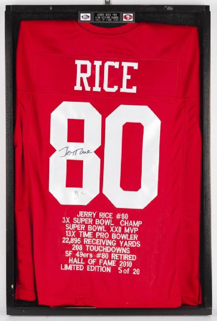 Autographed Jerry Rice Football Jersey