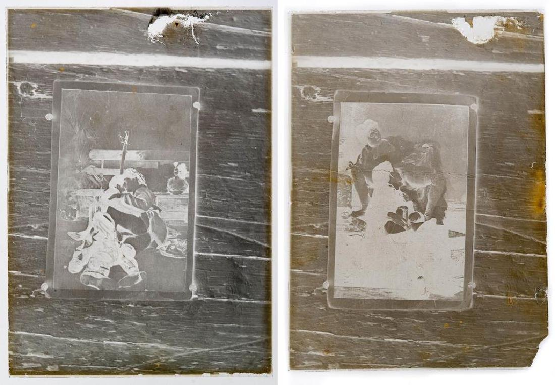 2 Early Erotic Silver Gelatin Glass Negatives