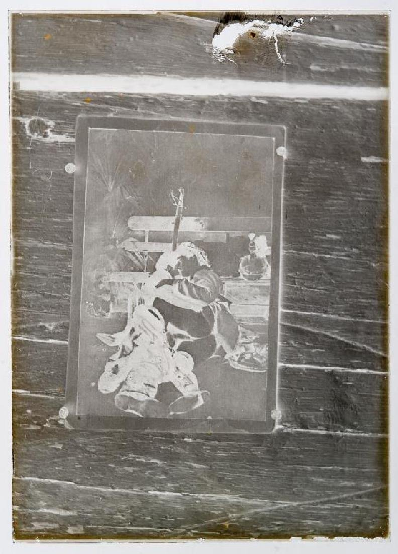 2 Early Erotic Silver Gelatin Glass Negatives - 2