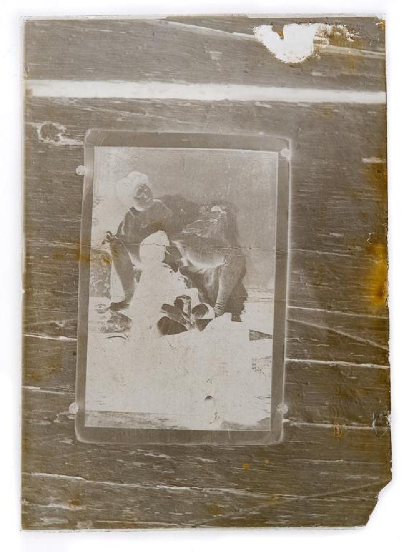 2 Early Erotic Silver Gelatin Glass Negatives - 3