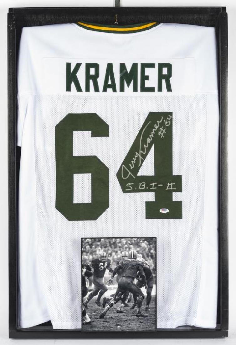 Autographed Jerry Kramer Football Jersey