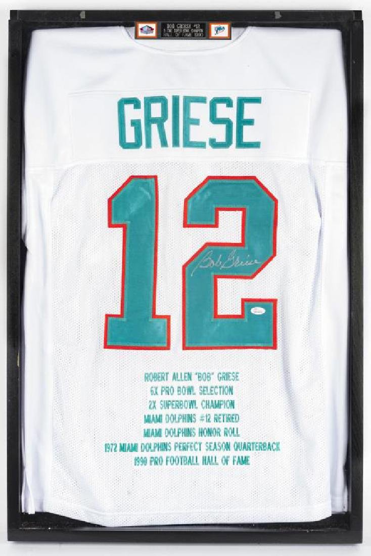 Autographed Bob Griese Football Jersey