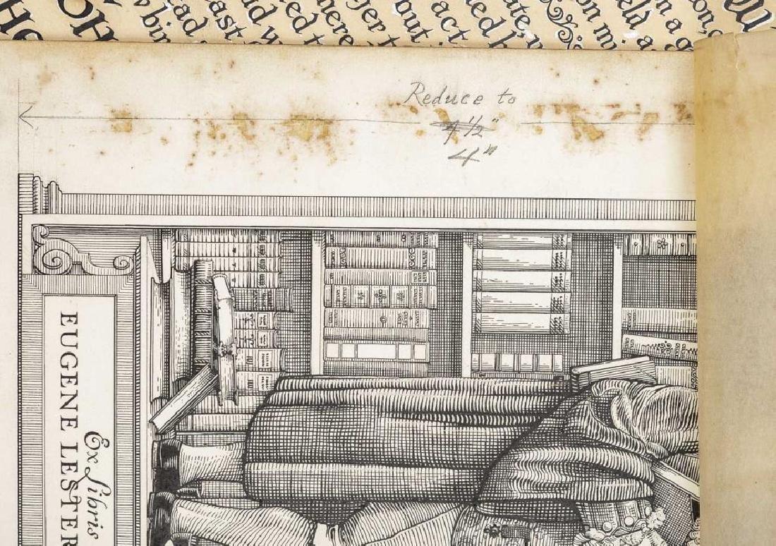 Lot of Original Drawings for Book Plates et al - 3