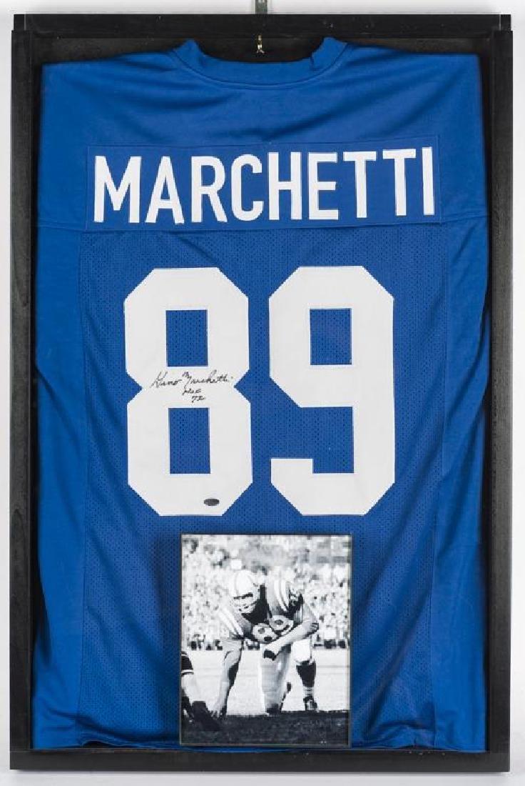 Autographed Gino Marchetti Football Jersey
