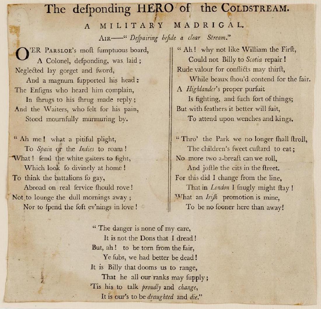 Desponding Hero of Coldstream Print & Verse - 2