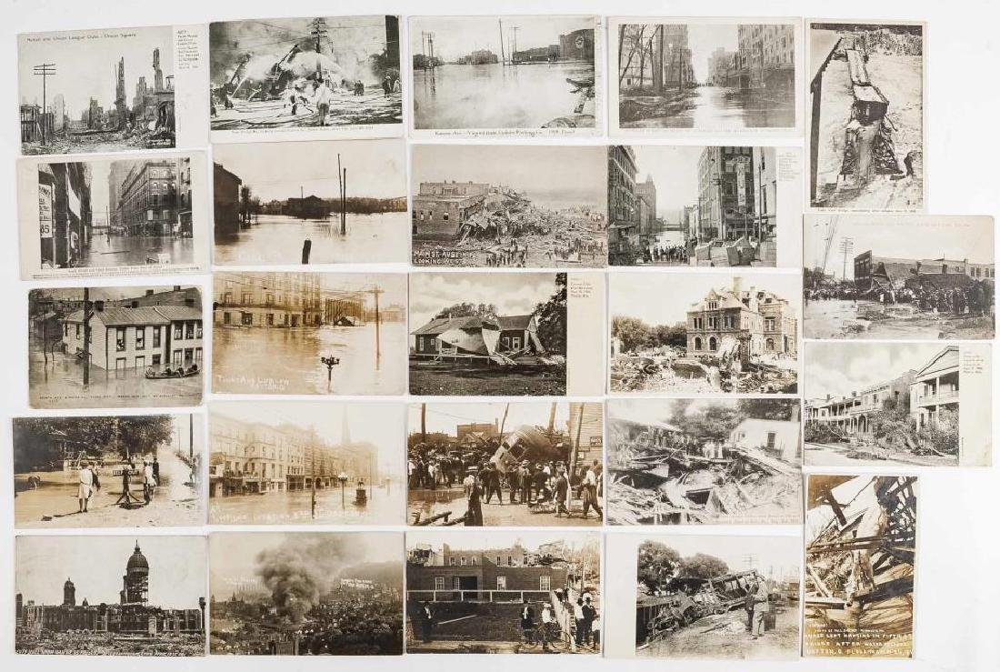 24 Vintage Natural Disaster Postcards