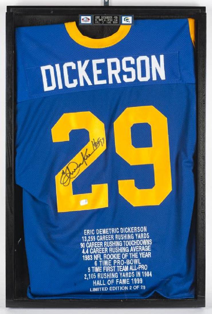 Autographed Eric Dickerson Football Jersey
