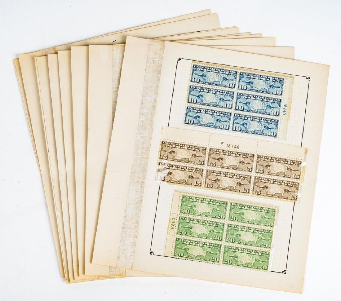 US Stamps Airmail Plate Blocks
