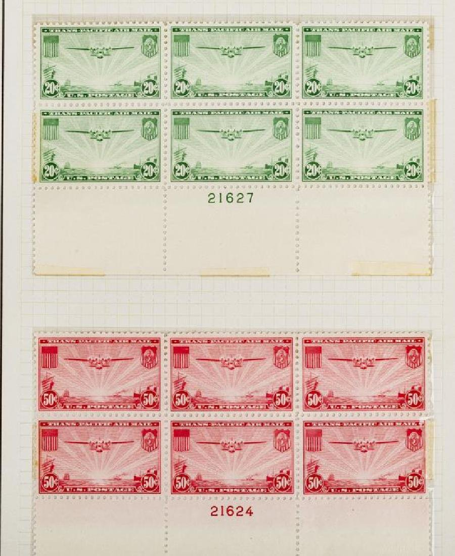 US Stamps Airmail Plate Blocks - 2