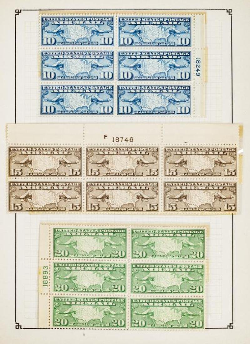 US Stamps Airmail Plate Blocks - 3