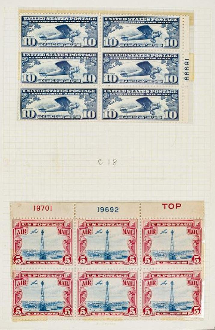 US Stamps Airmail Plate Blocks - 4