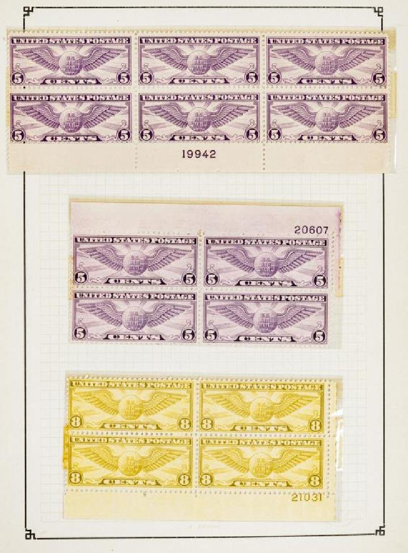 US Stamps Airmail Plate Blocks - 5