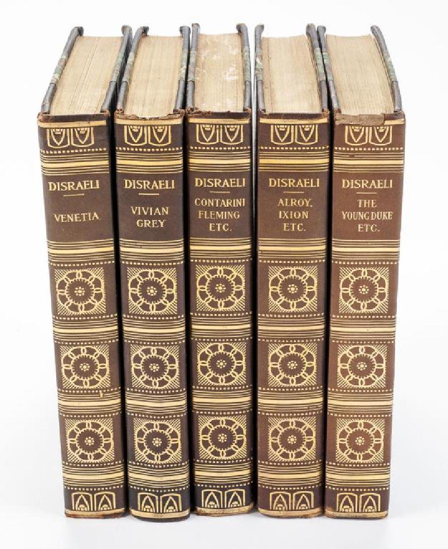 5 Vols. The Novels of Benjamin Disraeli