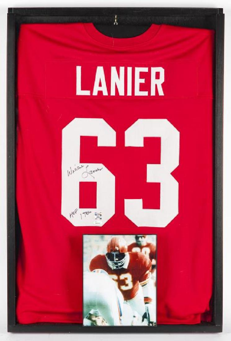 Autographed Willie Lanier Football Jersey