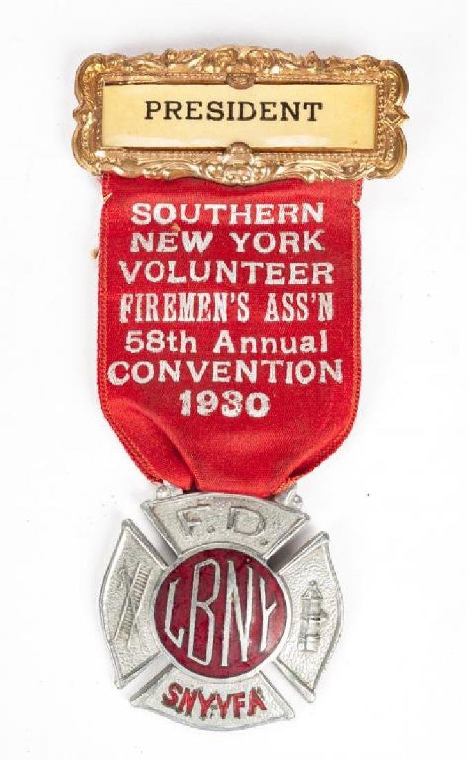 1930 Fireman's Association Convention Badge
