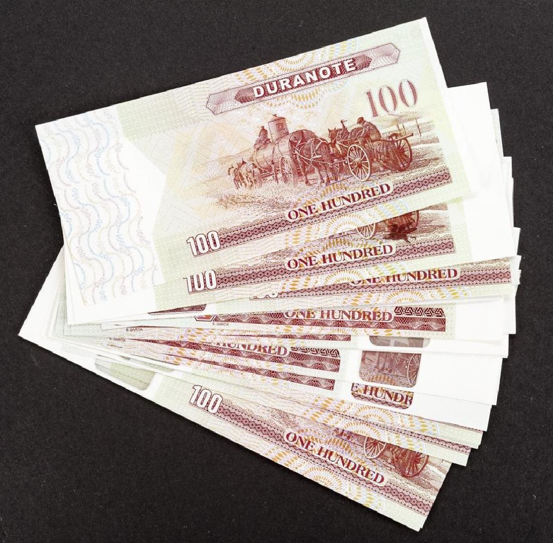 34 Duranote 100 Units Banknote Specimens
