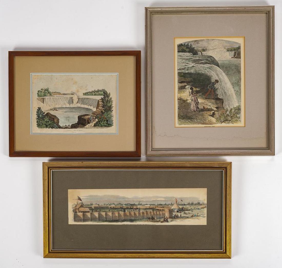 3 Niagara Area Colored Prints Incl E. Guerin