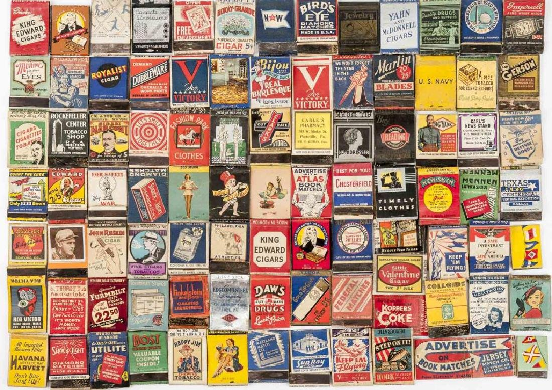 135 Misc Matchbooks incl. Cigars, Military, Sports