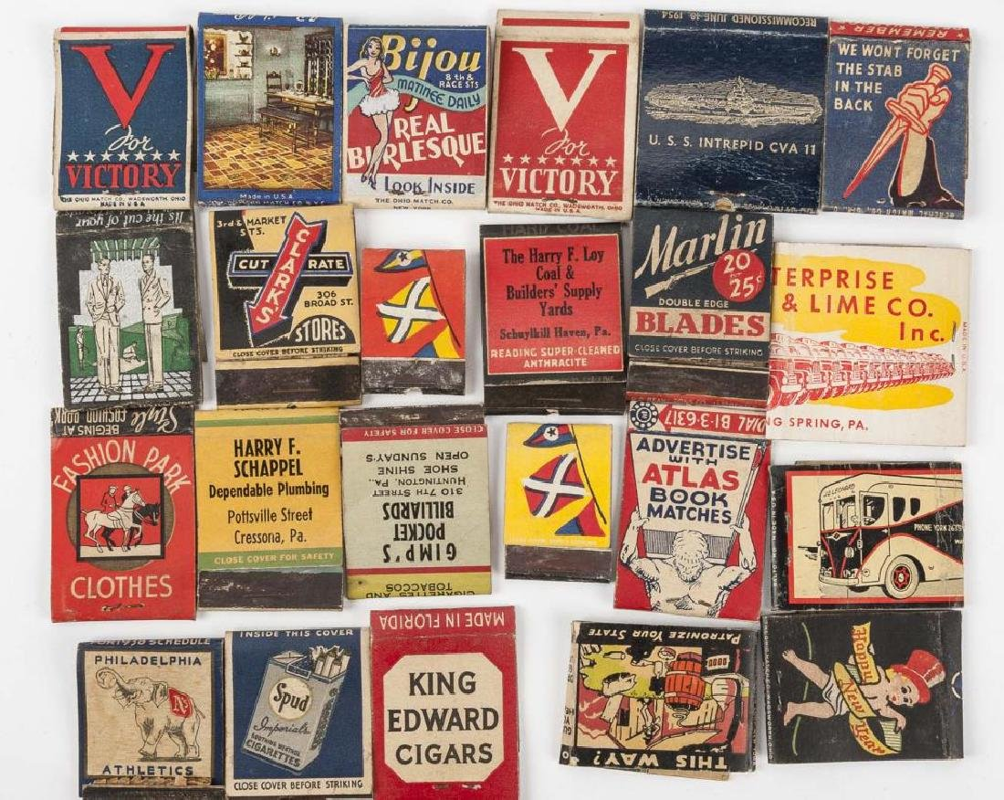 135 Misc Matchbooks incl. Cigars, Military, Sports - 3