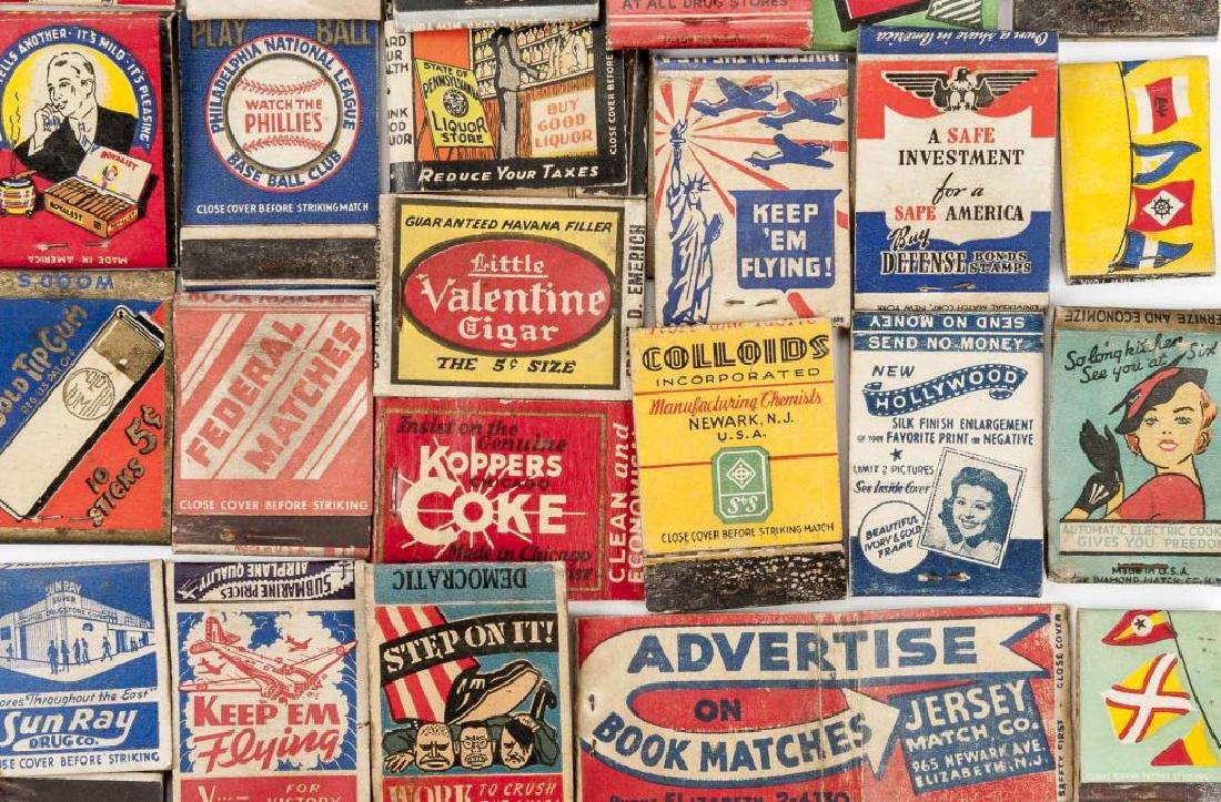 135 Misc Matchbooks incl. Cigars, Military, Sports - 4