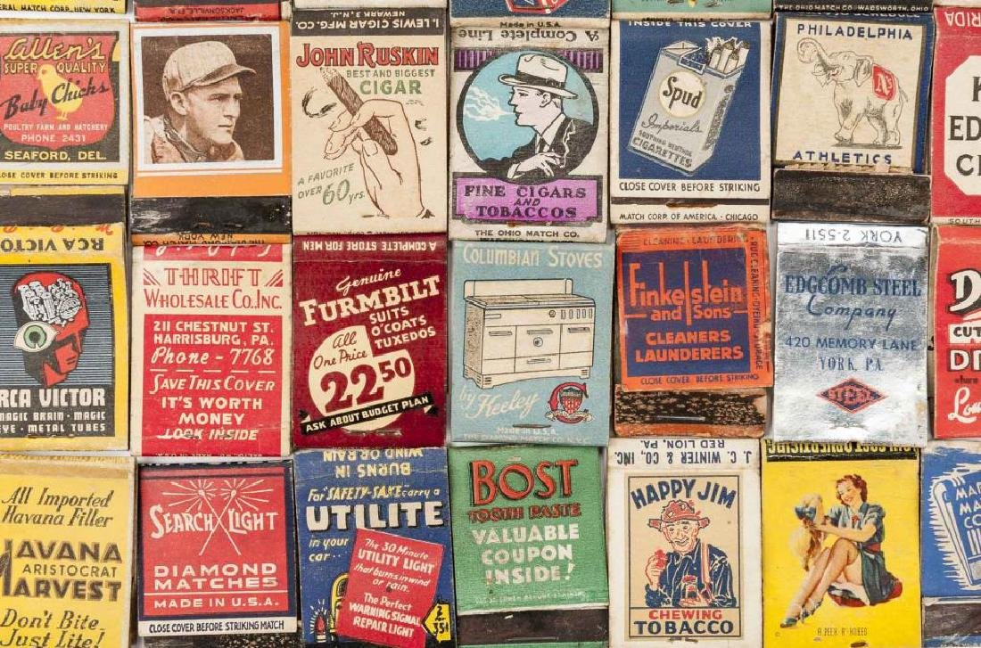 135 Misc Matchbooks incl. Cigars, Military, Sports - 5
