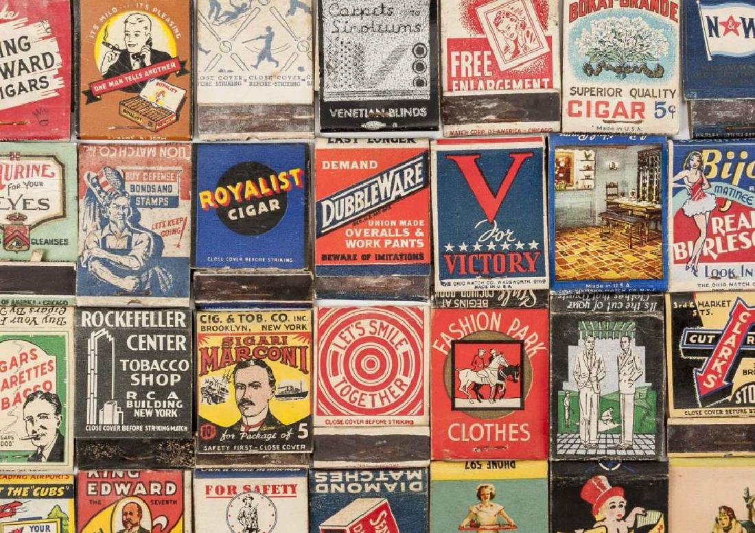 135 Misc Matchbooks incl. Cigars, Military, Sports - 6