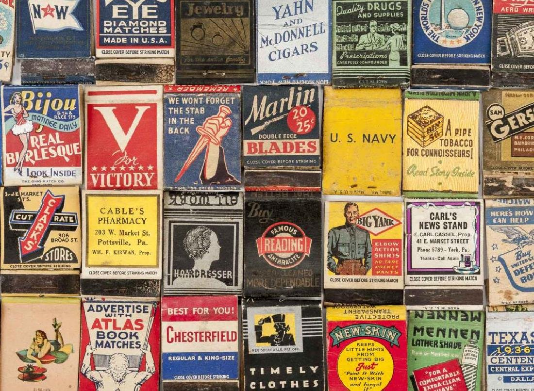 135 Misc Matchbooks incl. Cigars, Military, Sports - 7