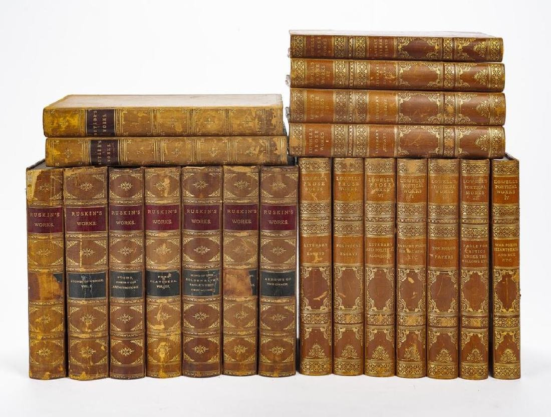 3 Sets of Books Incl Ruskin, Lowell & Butler