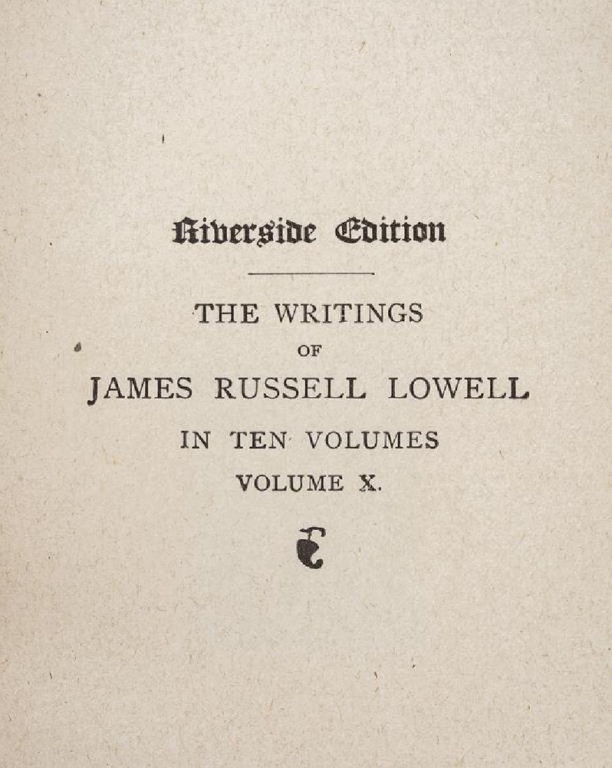 3 Sets of Books Incl Ruskin, Lowell & Butler - 9