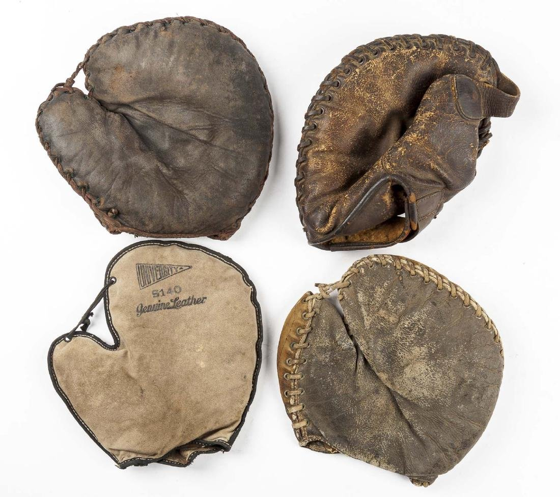 4 1920's 1st Baseman Gloves Incl Spalding