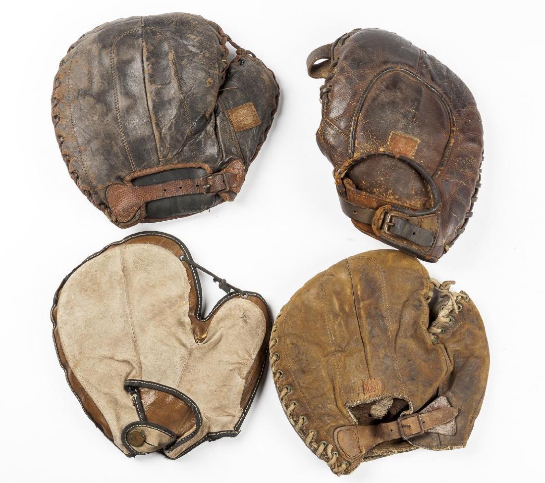 4 1920's 1st Baseman Gloves Incl Spalding - 2