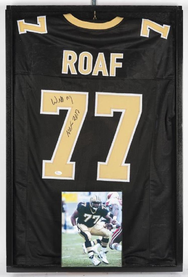 Autographed Willie Roaf Football Jersey