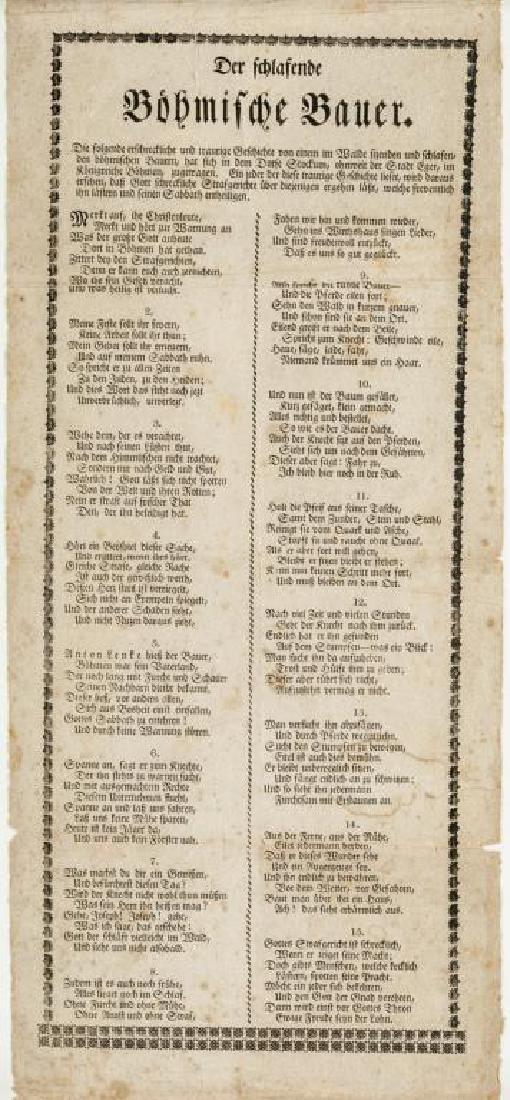 Pennsylvania German Broadside Sorrow Song