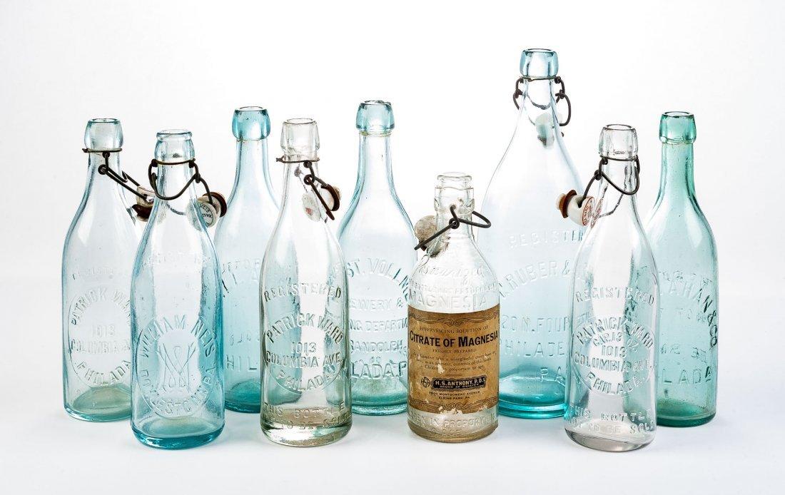 9 Pennsylvania Bottles Incl Philadelphia