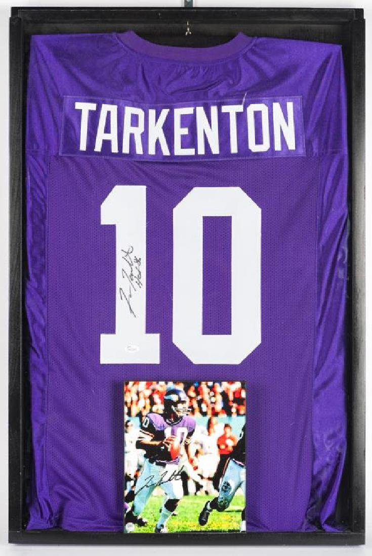 Autographed Francis Tarkenton Football Jersey