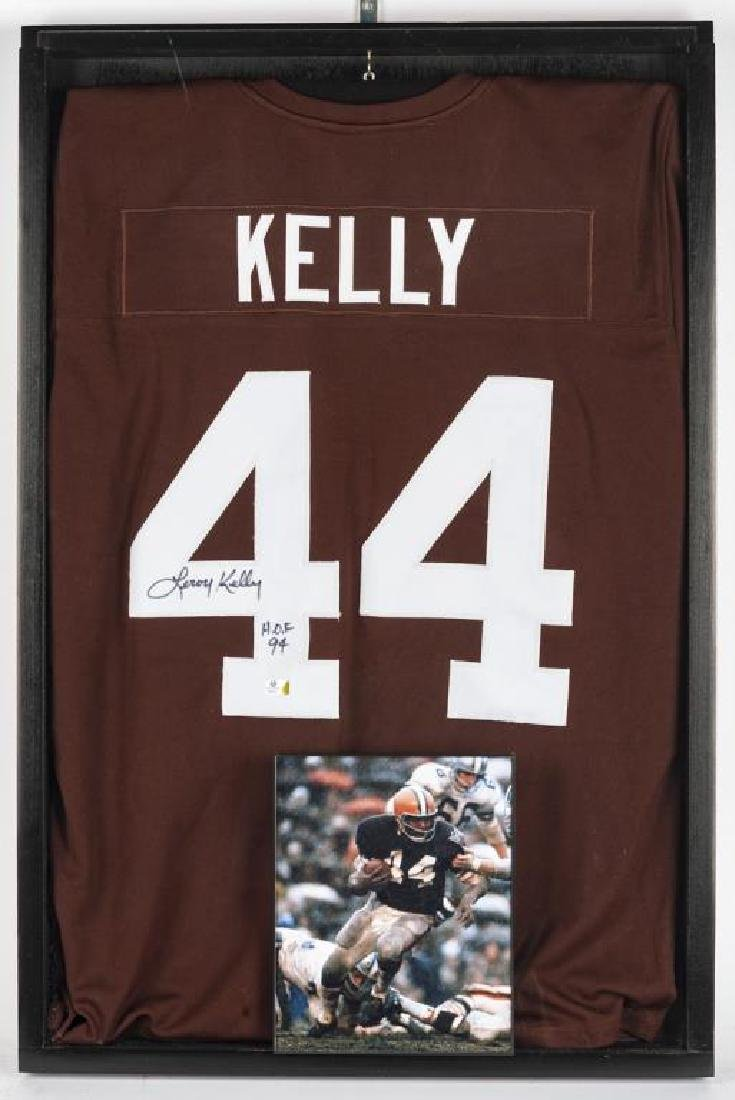 Autographed Leroy Kelly Football Jersey
