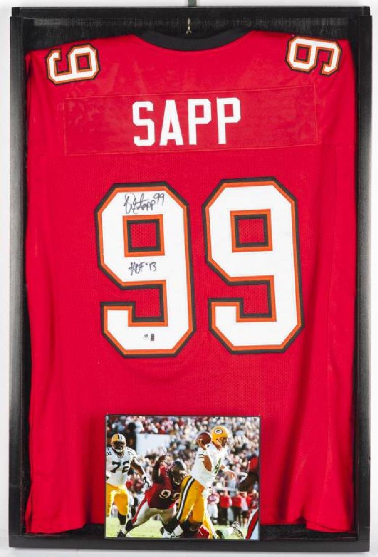 Autographed Warren Sapp Football Jersey