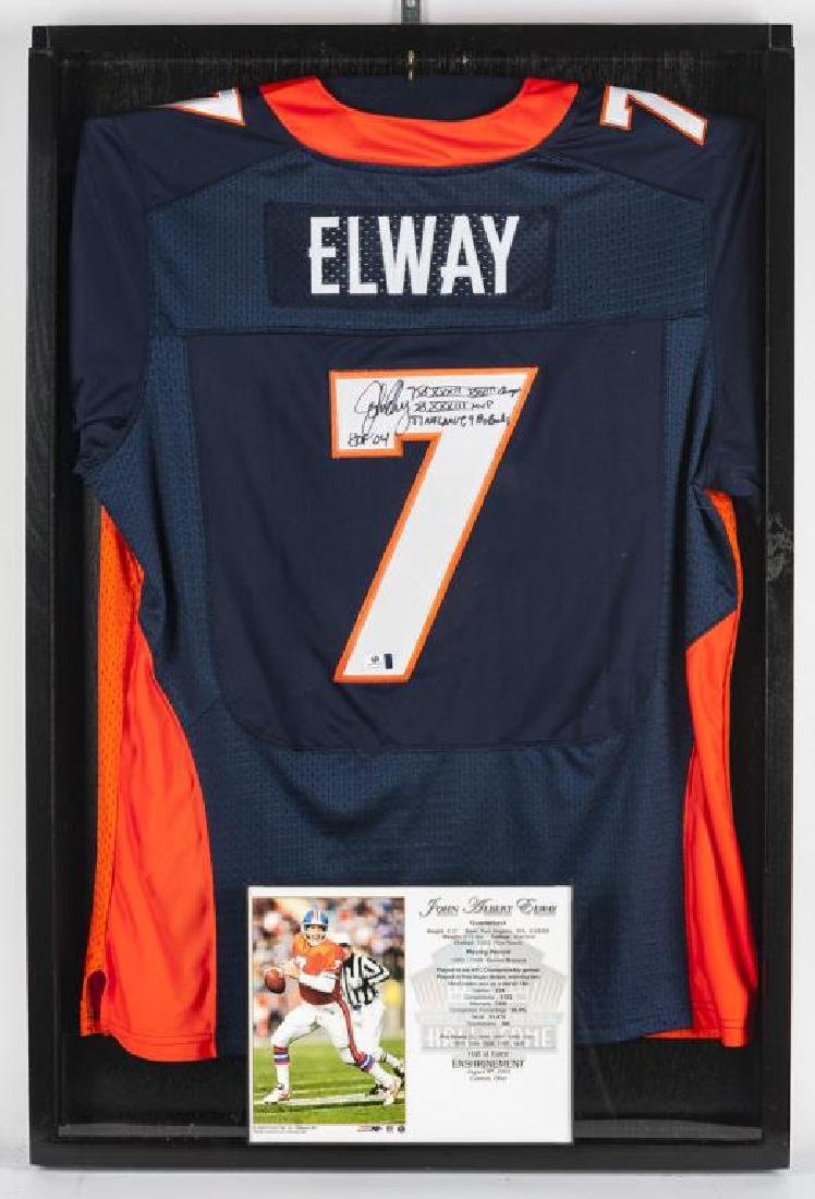 Autographed John Elway Football jersey