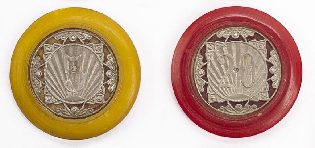 6 Vintage Monte Carlo Casino Chips - 2