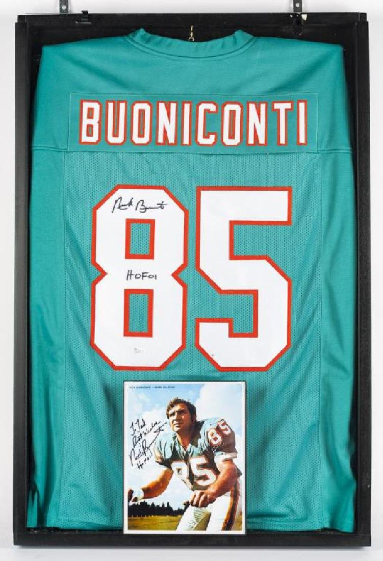 Autographed Nick Buoniconti Football Jersey
