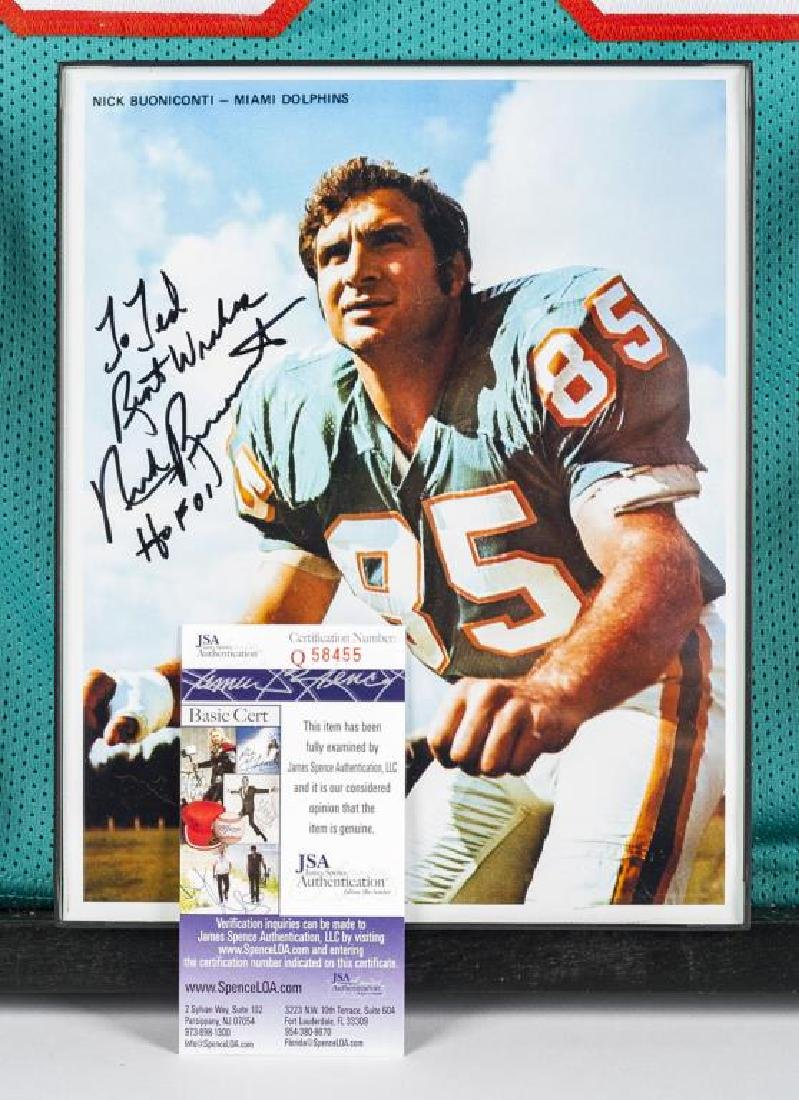 Autographed Nick Buoniconti Football Jersey - 2