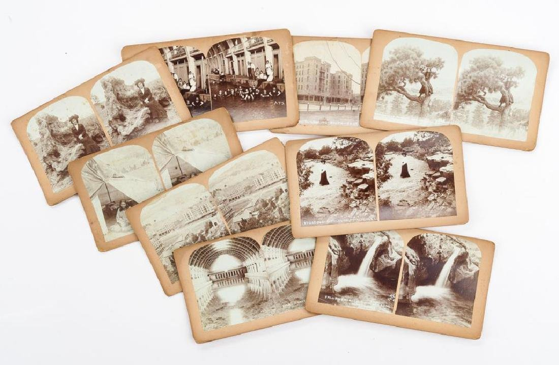9 Stereoview Cards of Hot Springs, SD